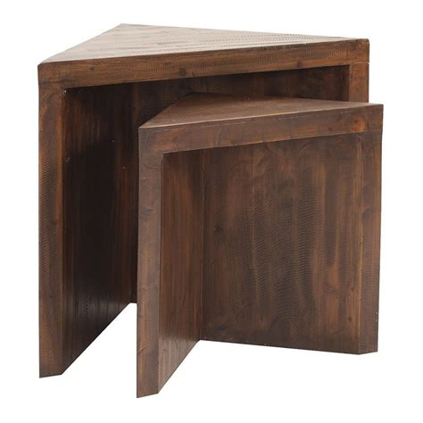 Carlisle Rustic Wood Nesting Tables