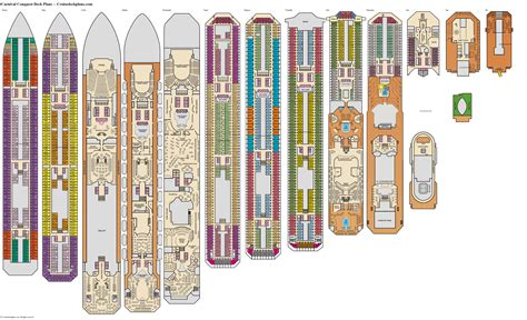 Carnival Conquest Deck Plans