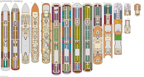 Carnival Dream Deck Plan Of The Ship