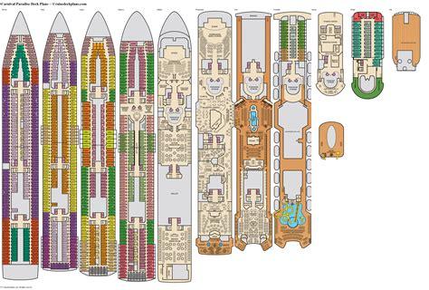 Carnival Paradise Deck Plans