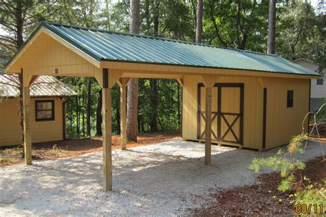 Carport With Storage Shed Plans