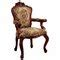 Carved Rocaille Fabric Armchair