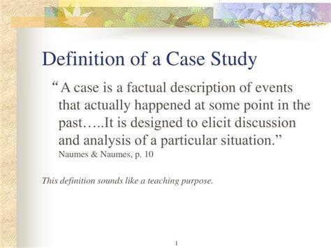 case study approach wiki
