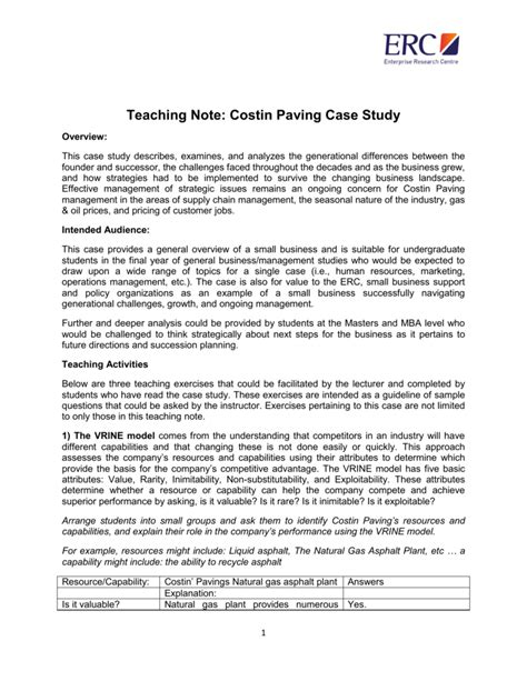 The Twitter Case Study Teaching Notes