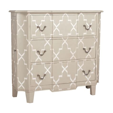 Casha Modern Diamond-Patterned 3 Drawer Accent Chest