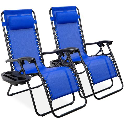 Cassie Reclining Zero Gravity Chair (Set of 2)
