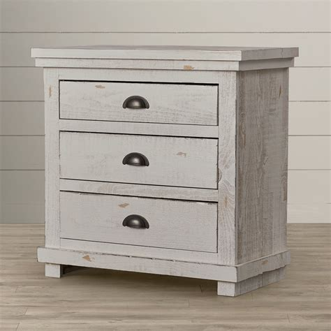 Castagnier 3 Drawer Night Stand