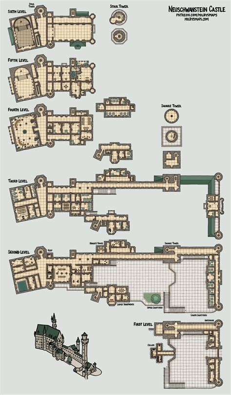 castle blueprints for dnd
