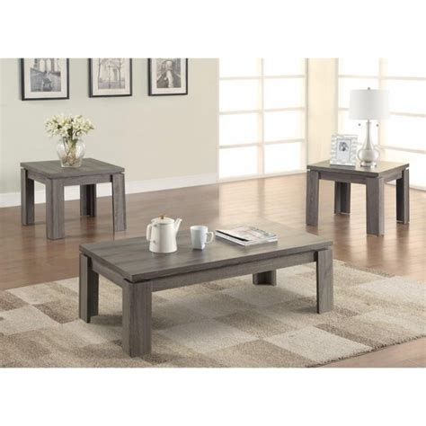 Cavet Enormous Weathered 3 Piece Coffee Table Set