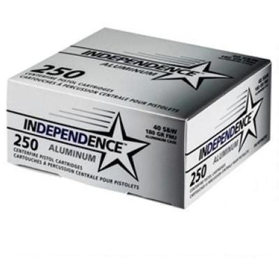 Ammunition Cci Independence 40 S&w Ammunition 250 Rounds 180 Grain Fmj.
