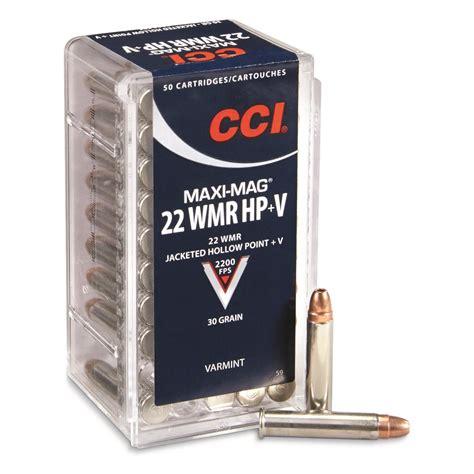 Ammunition Cci Maxi-Mag 22 Wmr Varmint 30-Grain Hollow Point Rimfire Ammunition.