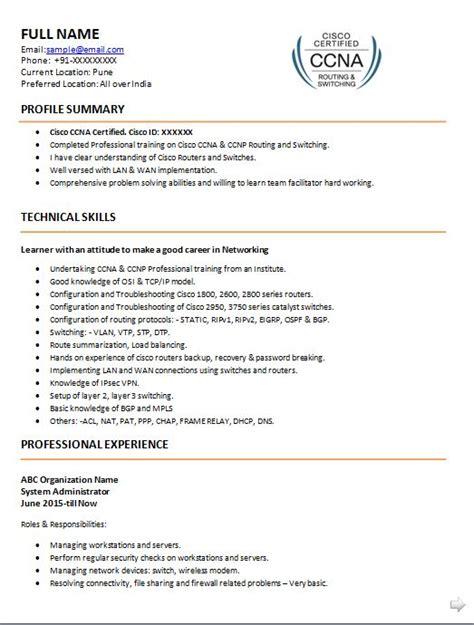 ccna resumes ccnp network engineer resume sample ccna resume