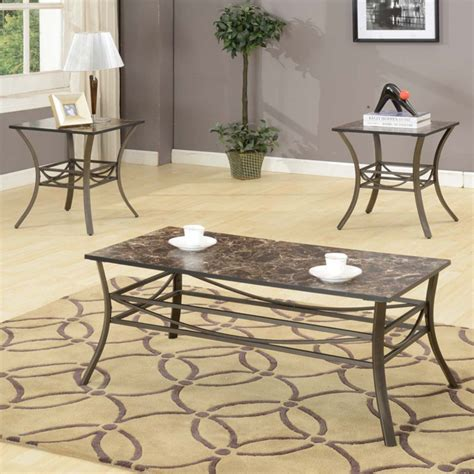 Ceasar 3 Piece Coffee Table Set