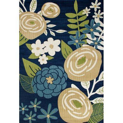 Ceasar Bouquet Blue Indoor/Outdoor Area Rug