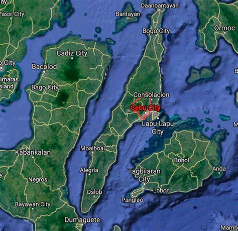 Credit Card Agent Davao City Cebu City Map Philippines Google Satellite Maps