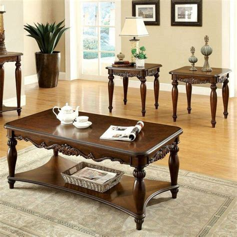 Cedar Open 3 Piece Coffee Table Set
