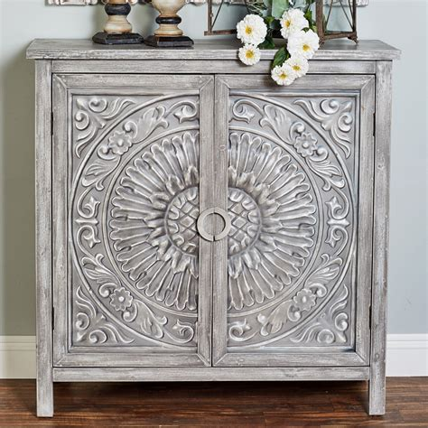 Cendrillon Wood Storage 2 Door Accent Cabinet