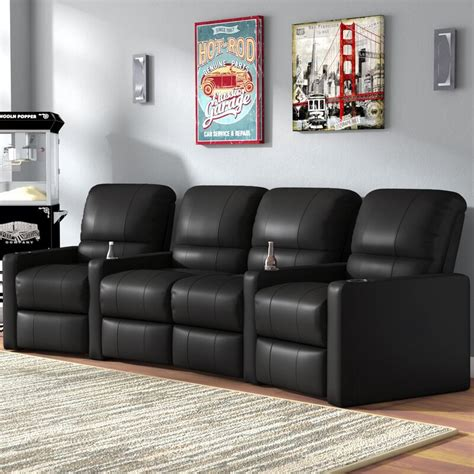 Center Home Theater Curved Row Seating (Row of 4)