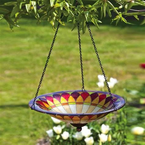 ceramic bird feeder bath pa hanging