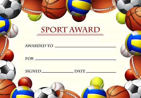Certificate award template microsoft word cover letter template certificate award template microsoft word printable sports certificate template for word fppt yadclub Image collections