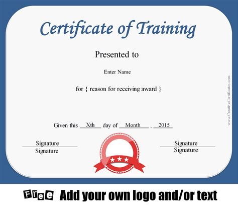 certificate layout word