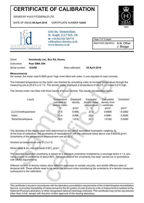 Blank calibration certificate template blank calibration certificate template certificate of calibration transmille multi meter yadclub Gallery