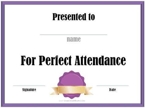 Perfect Attendance Award Template Radiovkm