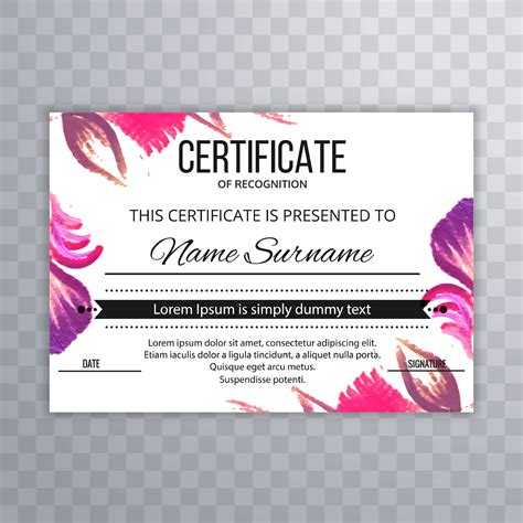 Certificate template vector set 29 resume usher position certificate template vector set 29 vector floral free floral vector graphic royalty free yadclub Image collections
