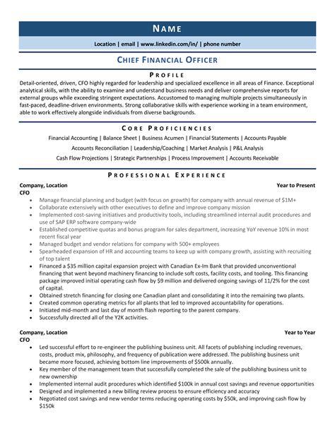 resume summary examples cfo industry resume scientist