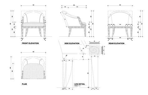 Chair Design Autocad