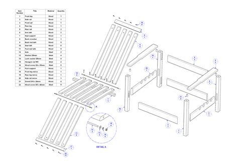 Chair Woodworking Plans Metal Accessories