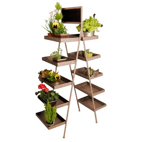 Chalkboard Multi-tiered Plant Stand
