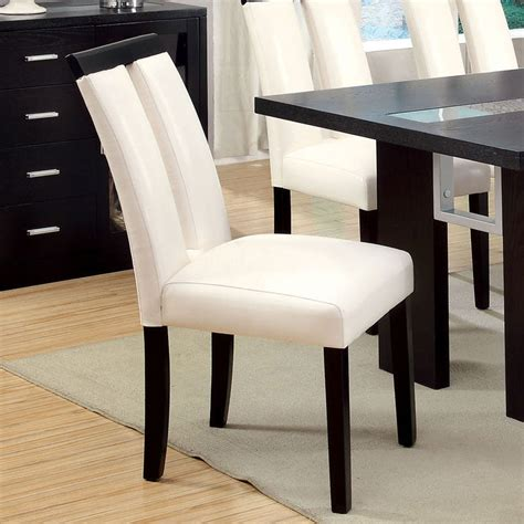 Champ Leatherette Solid Wood Dining Chair (Set of 2)