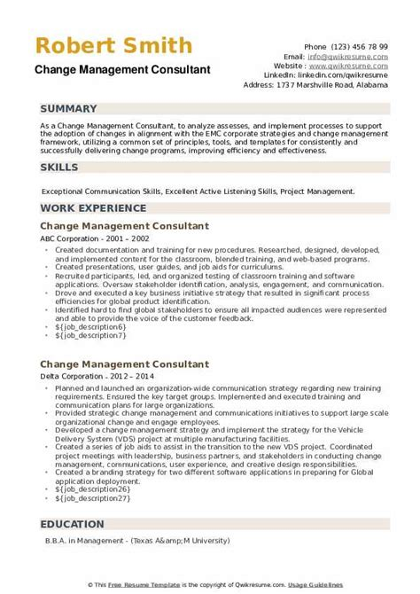change manager resume india change management consultant resume sample - Change  Management Resume Examples