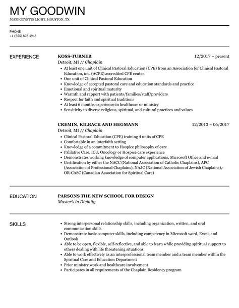 Chaplain Assistant Sample Resume] Top 8 Hospice Chaplain Resume ...