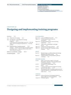 [pdf] Chapter 52 Designing And Implementing Training Programs.