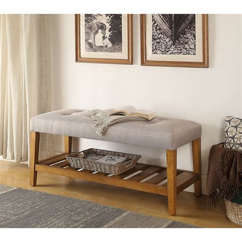 Charla Wood Storage Bench