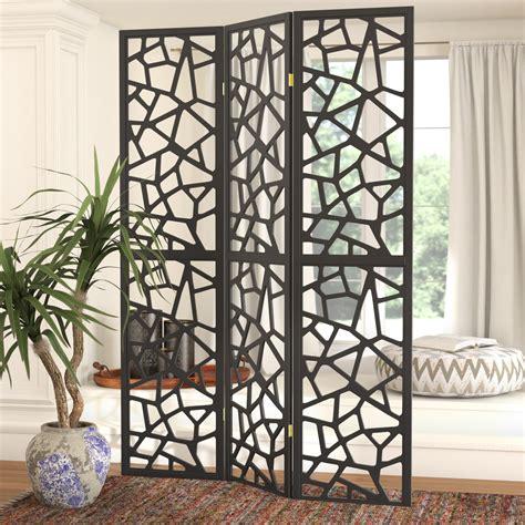 Charlayne 70.25 x 52 Folding 3 Panel Room Divider