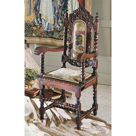 Charles II Fabric Armchair