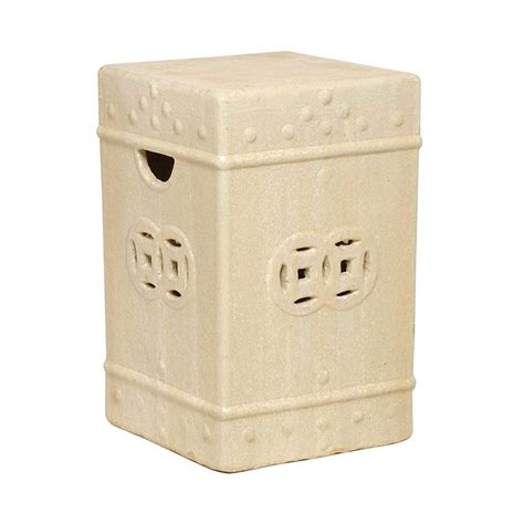 Charleson Square Ceramic Fortune Garden Stool