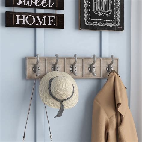 Chauncy Traditional Rectangular Wall Mounted Coat Rack