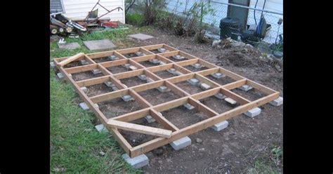 Cheap Shed Foundation