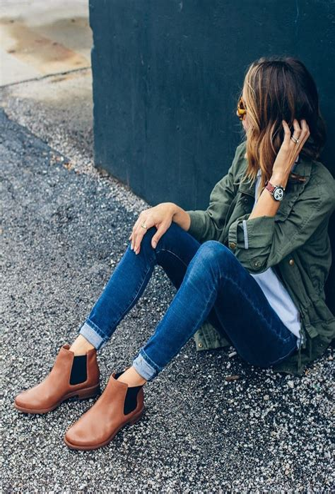 Chelsea Boots Damen Outfit