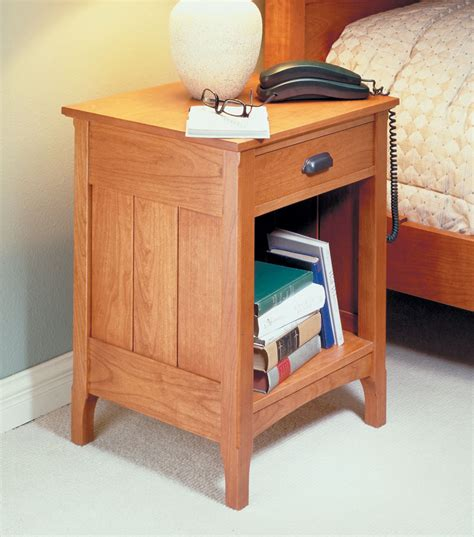 Cherry Bedside Table Woodworking Plan