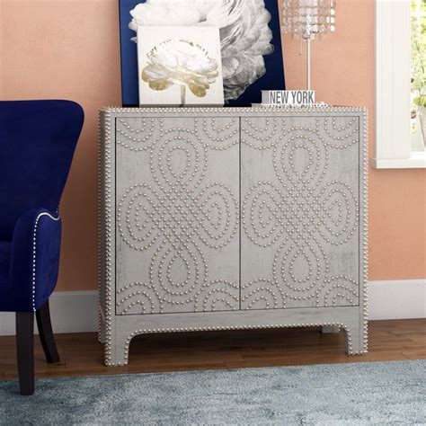 Chessani Nailhead Accent 2 Door Chest