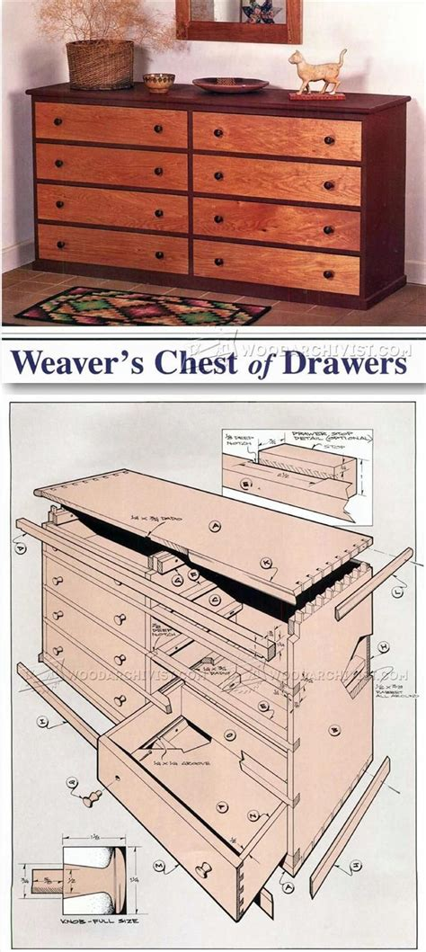 Chest of Drawers Plans Woodsmith Tips Lists