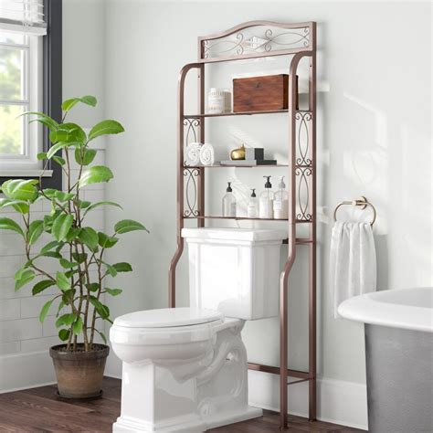 Chestnut Space Saver 25 W x 66 H Over the Toilet Storage