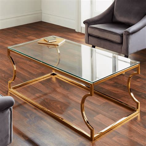 Chevy Clear Glass Top End Table