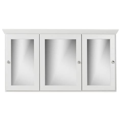 "Chewning Tri-View 48""x 27"" Surface Mount Framed Medicine Cabinet with 9 Adjustable Shelve by"