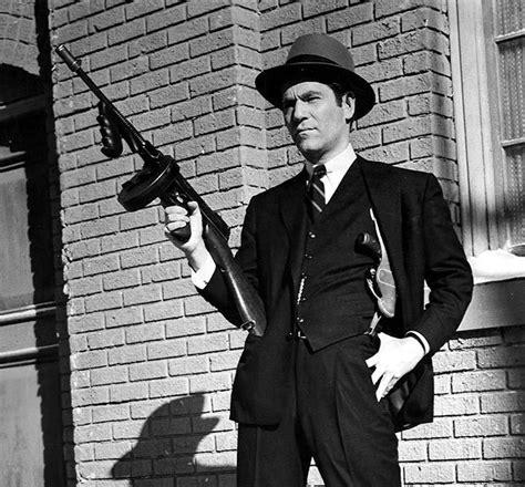 Tommy-Gun Chicago Gangster Holding A Tommy Gun.